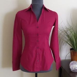 Express Essential Stretch Button Down Blouse